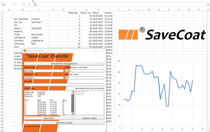 Software for data transfer in Microsoft® Excel image